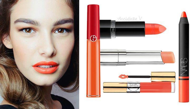 Trend make up labbra primavera 2014: rossetti e gloss arancioni   AccidiosaV