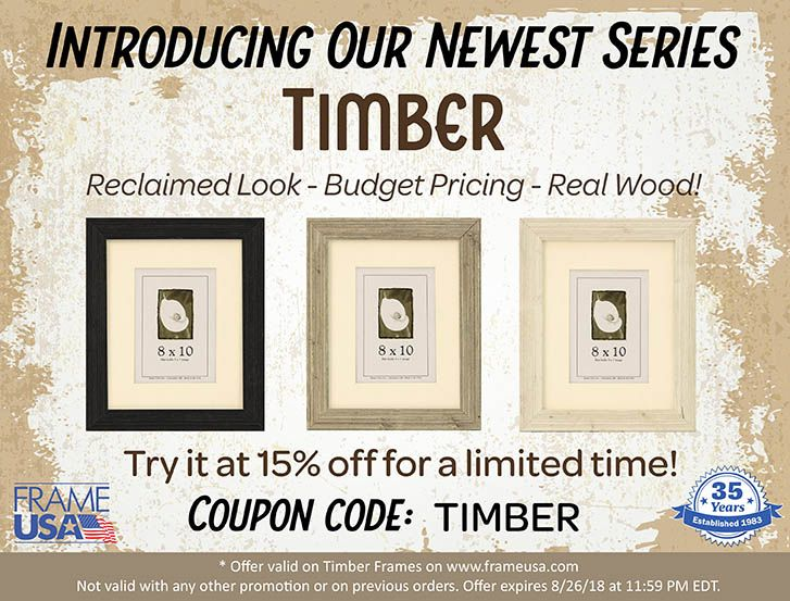 Now Through Sunday 8 26 We Are Offering 15 Off Our Newest Frame Series Timber Use Coupon Code Timber To Try Thes Barn Wood Picture Frames Frame Barn Wood