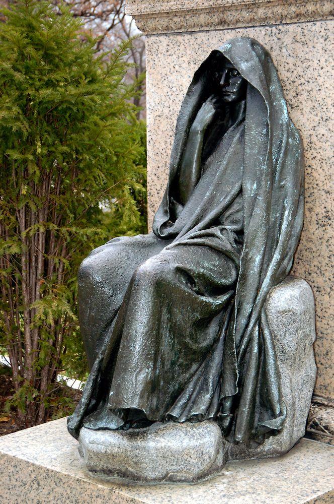cemetery art | ... Adams Memorial (1891), Rock Creek Church Cemetery, Washington, D. C