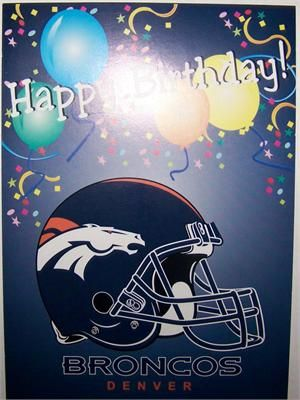 Denver Bronco Happy Birthday Card