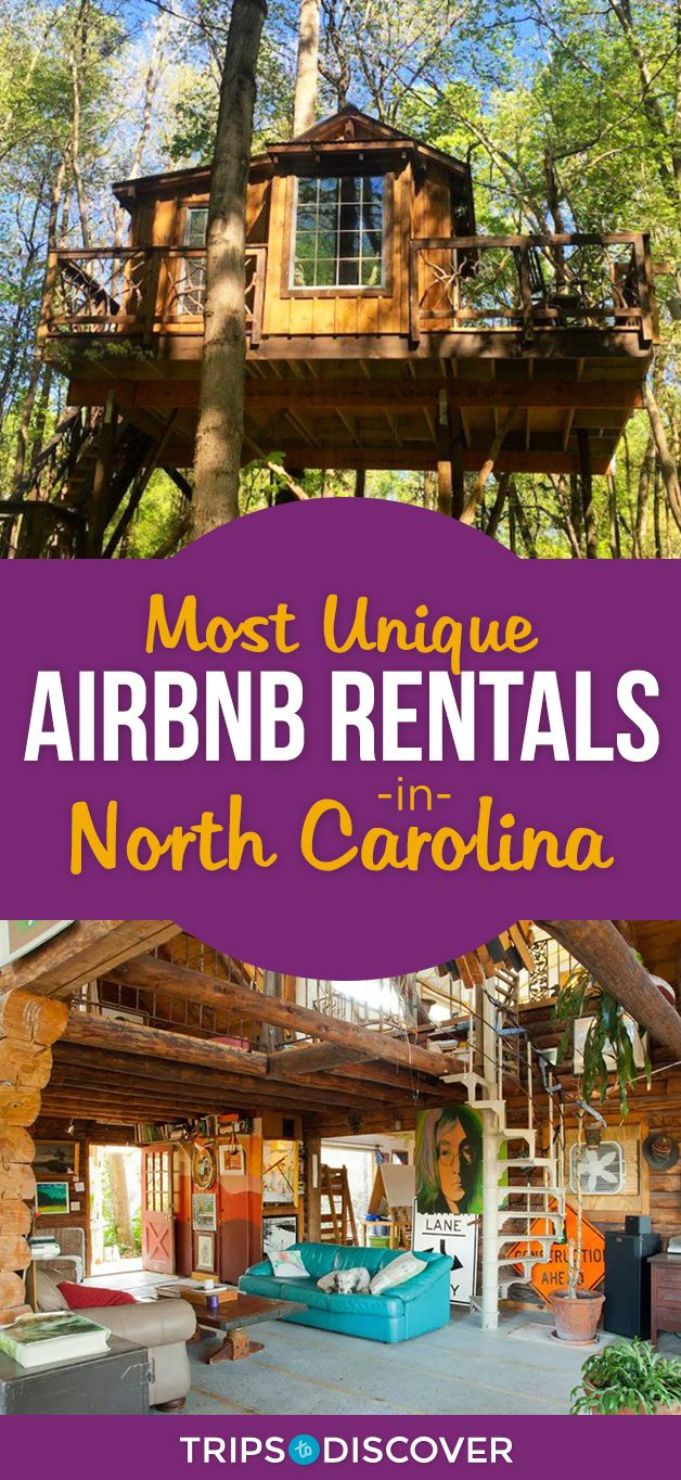 Stay somewhere truly unique in these North Carolina Airbnb rentals