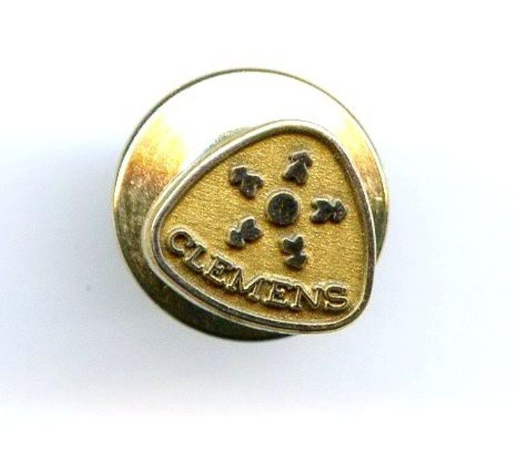 Vintage CLEMENS 10k GF Service Award Badge Pin Grocery Store Tie Tack OC Tanner