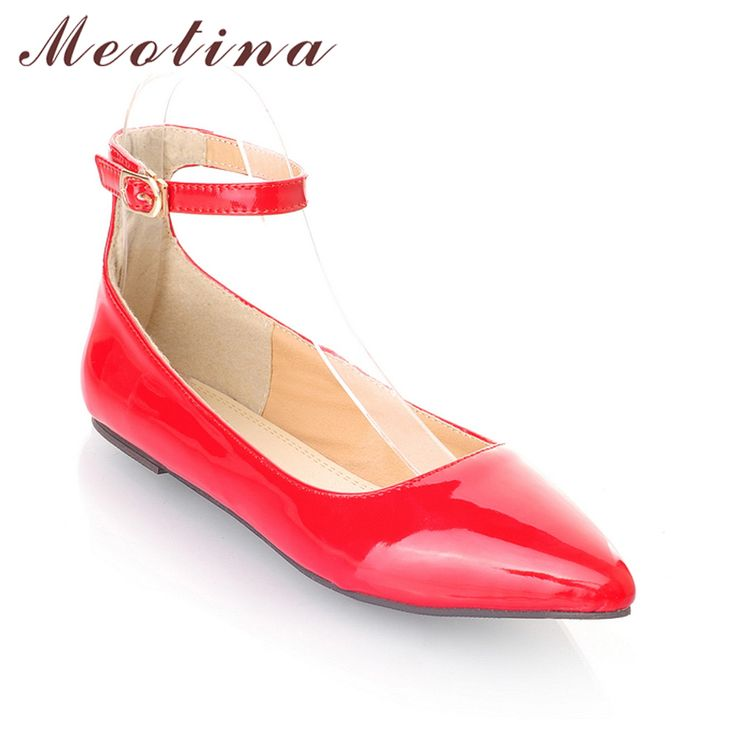 Cheap New stylenanda candy colored patent leather Pointed flat shoes single shoes boat shoes a generation of. Click visit to check price