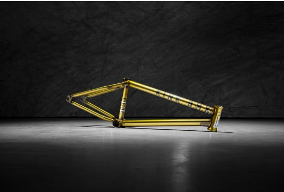 Golden coloured kink solace III. Without a doubt the most vital part of a BMX bike. Many people don't realise but hundreds of BMX frames are released every year in every colour, from matt black to oil slick, and in many different materials. Professional riders love to create a signature frame. This list is definitely not a full list of every BMX frame or signature BMX frame made in 2016, although it's some of the most popular and also my favourite frames of the past year.