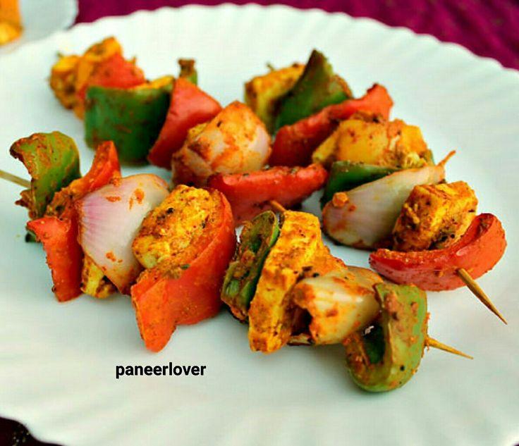 TANDOORI PANEER TIKKA #tandoori #paneertikka  #tikka #paneertikkamasala #paneertikka #paneer #paneerlover #like #like_paneer  #paneer_recipes #love #paneerbenefits #lover #gravy_paneer #delicious #deliciousfood #food #foodie #grilledcheese #grilled #gravy www.facebook.com/paneerlover