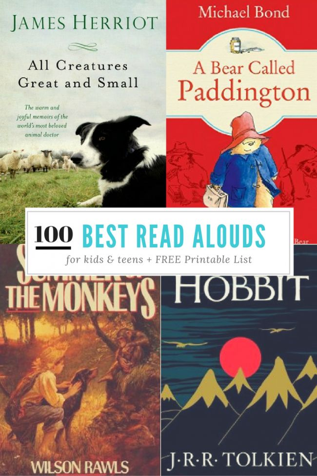 100 Books to Read Aloud Before Your Child Graduates   FREE Printable Checklist