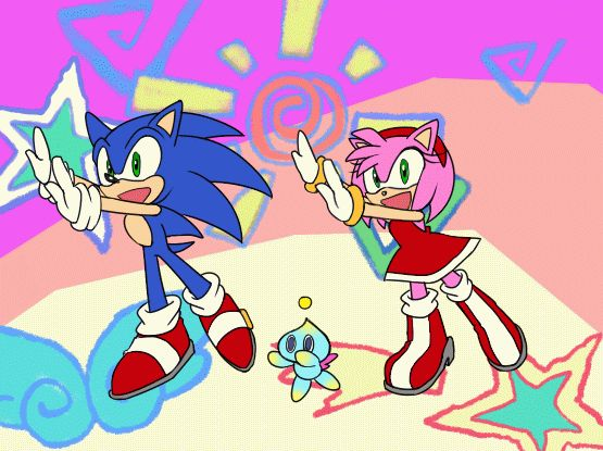 Don't ask why, JUST LOVE IT// it's the beginning of a new Sonic anime!! XD