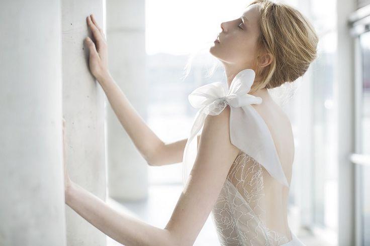 Tonya : Delicate flower pattern tulle - Mira Zwilinger 2016 Wedding Dresses | fabmood.com: