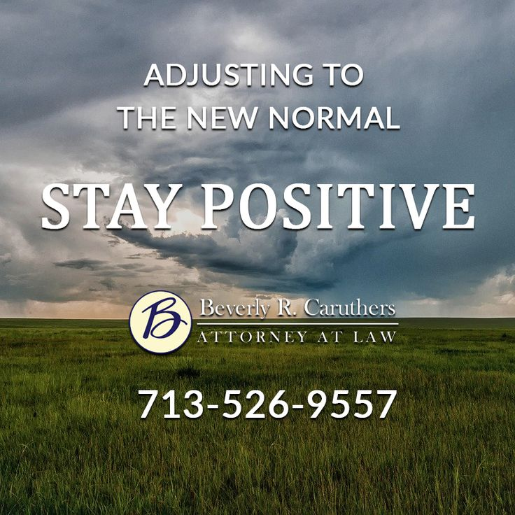 Adjusting to the new normal, STAY POSITIVE in 2020
