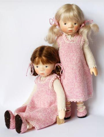 January 2011 Blond In Pink Jumper H295 by Elisabeth Pongratz at The Toy Shoppe