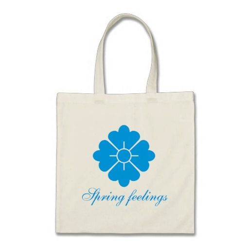 Flower shape design bags - blue. Customizable, you can change/add the text, change the font (style), color, position etc.