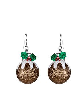 Be the belle of the ball with these Christmas Pudding Earrings on sale for £2.00 at Accessorize @Swagbucks  #CandyCaneGang #UglySweater(enya1201)