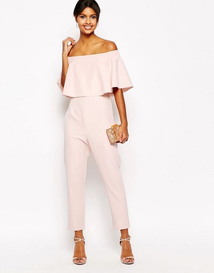 Elegant Overalls For Wedding Guest Simple And Chic Wedding Outfit How To Dress Up Denuded Suits Rompers Rompersn Fashion Ruffle Jumpsuit Tall Jumpsuits