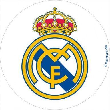 Disque azyme 20 cm Real Madrid™, décoration anniversaire et fêtes à thème sur Vegaoo Party