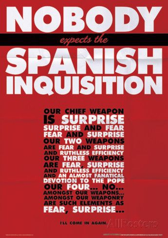 Monty Python (Spanish Inquisition) Television Poster Masterprint at AllPosters.com