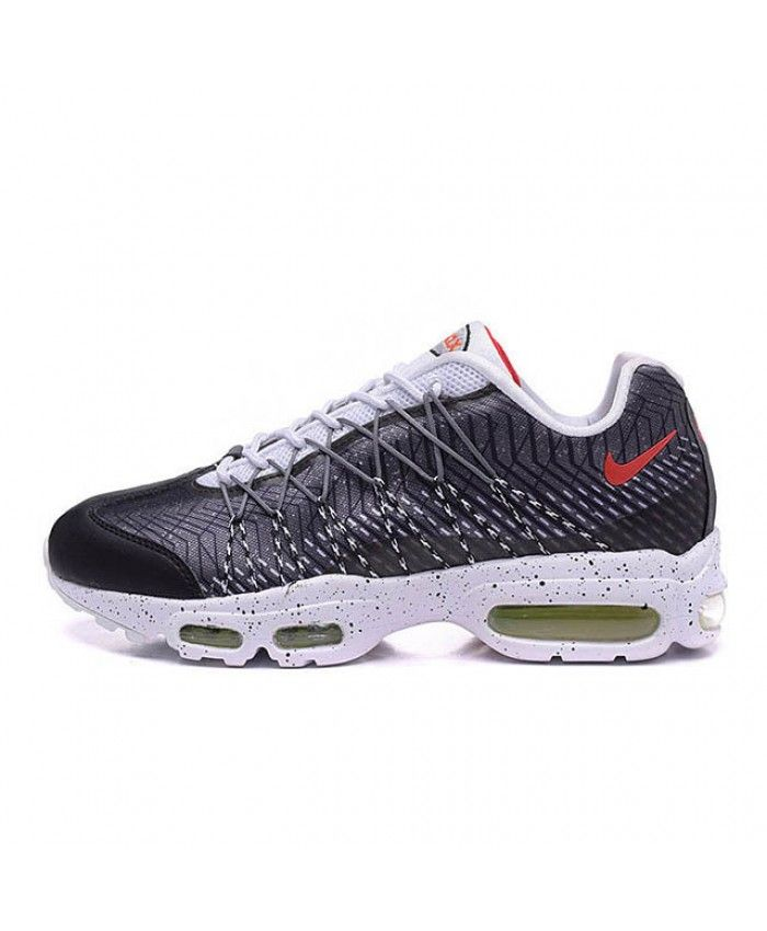 timeless design 224f0 3d3b1 Nike Air Max 95 Ultra Jacquard Grey White Red Shoes