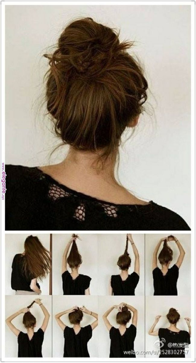 I Do This Messy Bun Almost Everyday Thanks To This Pic P Hair In 2018 Pinterest Hair Hair Styles And Messy Hair Styles Pinterest Hair Long Hair Styles