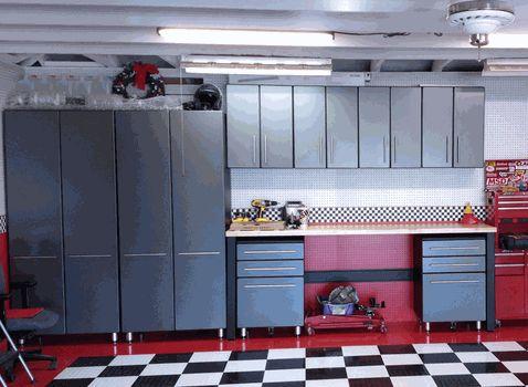 nine piece workbench garage storage cabinets