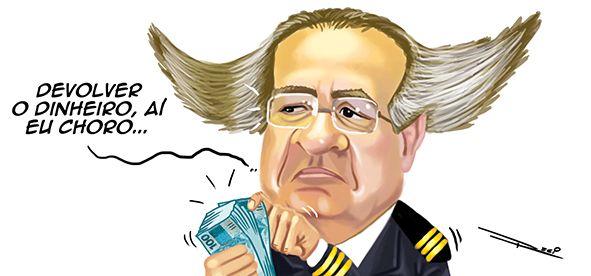 Renan devolve (mais uma vez) R$ 27 mil gastos com voo para implante capilar