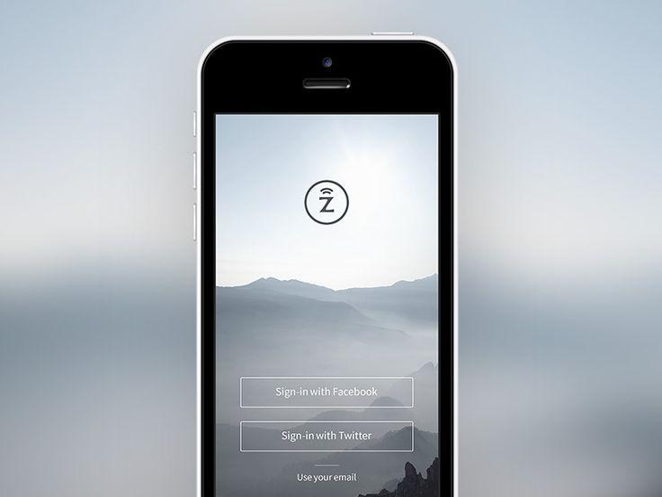 Simple Mobile App Login Screen | #UI Design