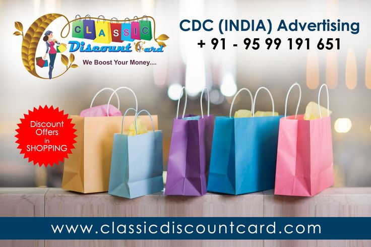 We are gives you discount offers in shopping through classic discount card. we have lots of merchant If you want to this offers so get buy our classic discount card
