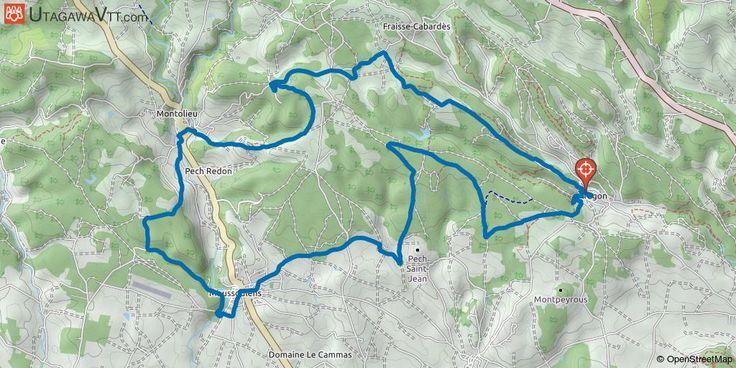 [Aude] Aragon - Parcours N° 6 Parcours N° 6 de l'association VTT ATAC d'Aragon, déjà proposé sur le site mais la trace proposée par rondoudou50 n'est pas très satisfaisante et ne suit pas le parcours réel de l'association. En voici donc la version corrigée effectuée par mes soins.  Départ dans le village sur le goudron (beaucoup de route d'ailleurs sur ce parcours VTT) qui se trouve assez cassant pour des jambes froides. Cela dure environ 600 mètres et sur votre droite, départ sur la terre…