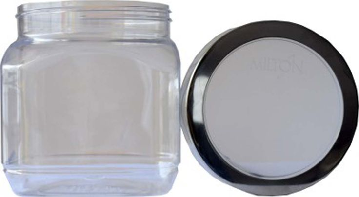 Buy #Milton Crisp N Clear Square 1500 ml SS Lid Plastic Food Container - Storage Jars and more #Homeware, #Kitchenware and #Cookware products at Popat Stores. #StorageJars