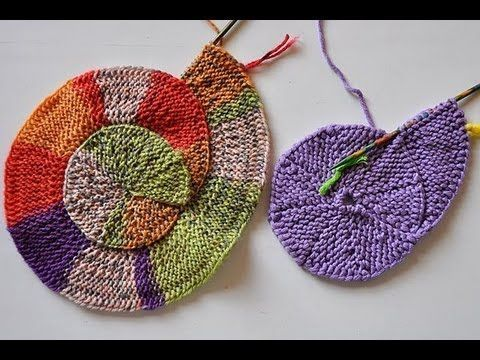 Knitted spiral.