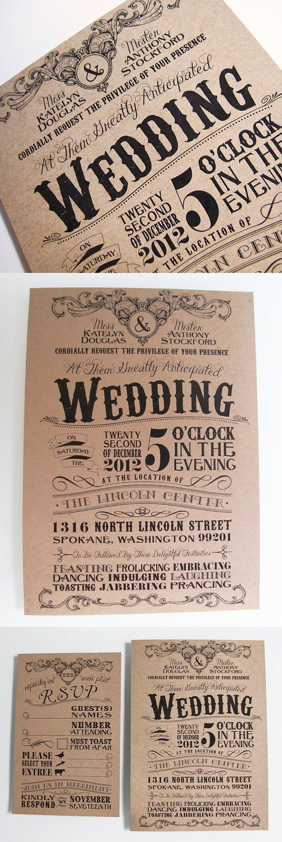 Luxury custom designed wedding invitations for Wedding