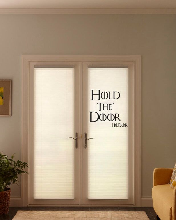 """Hodor """"Hold the Door"""" quote got three lines Wall Decor Vinyl Decal Sticker by BetterThanStickers on Etsy https://www.etsy.com/listing/294886009/hodor-hold-the-door-quote-got-three"""
