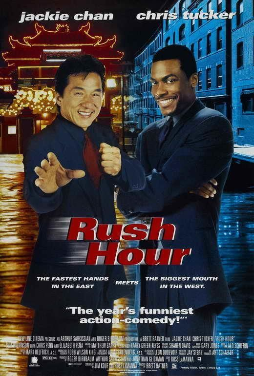 Rush Hour Movie Poster 27 X 40 Jackie Chan Chris Tucker A