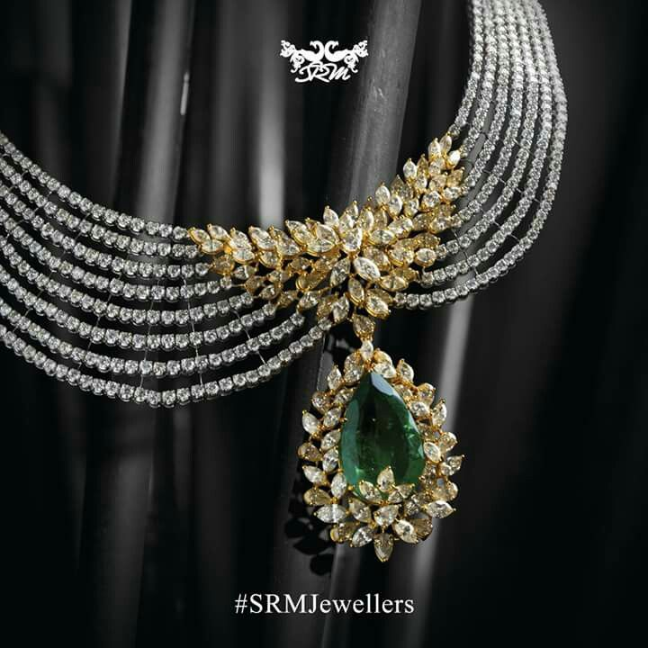 Diamonds and Emerald necklace.