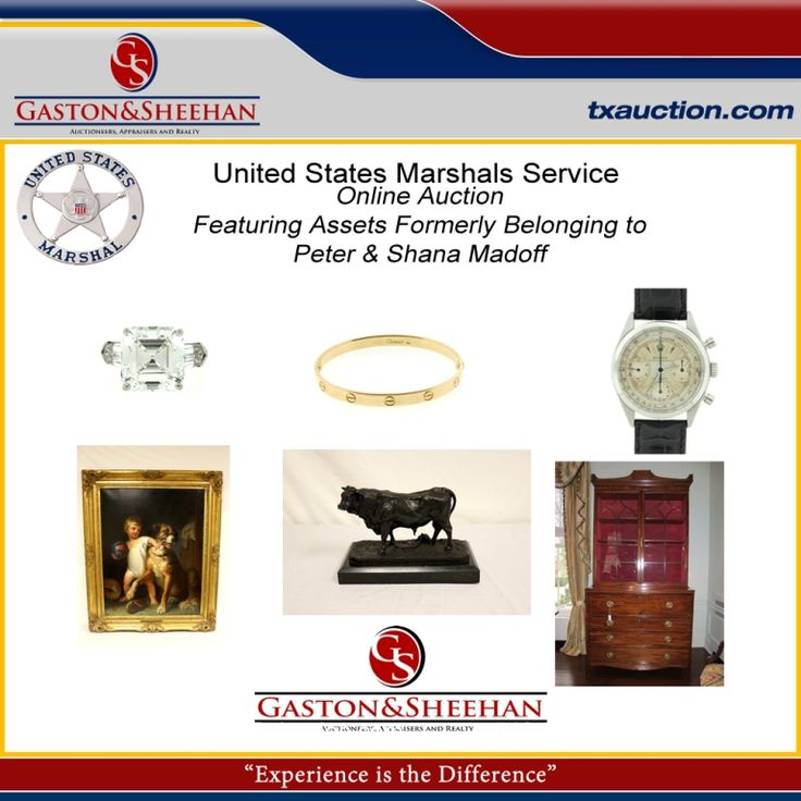 Featuring Assets Formerly Belonging to Peter & Shana Madoff Including:  Fine Jewelry, Art, Furniture, and Collectibles