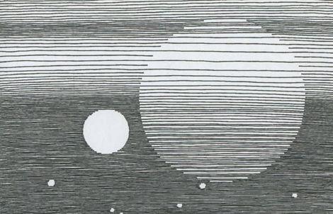 BA lijn/ lijnvoering ( werk van Michel Seuphor illustratie)
