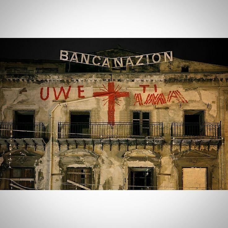 Uwe ti ama- banca nazion- Uwe Jaentsch- Vucciria- Piazza Garraffello- Palermo- Sicilia