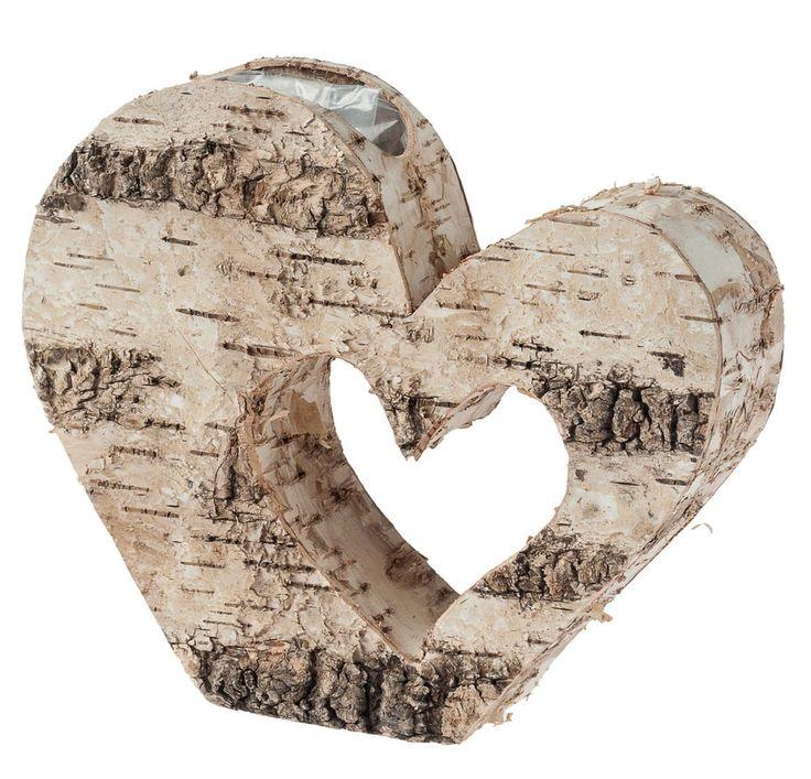 Brezový kvetináč srdce  20, 5 x 28 x 6 cm
