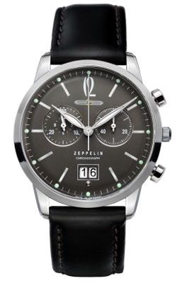 Graf Zeppelin Flat Line Chronograph Watch $385
