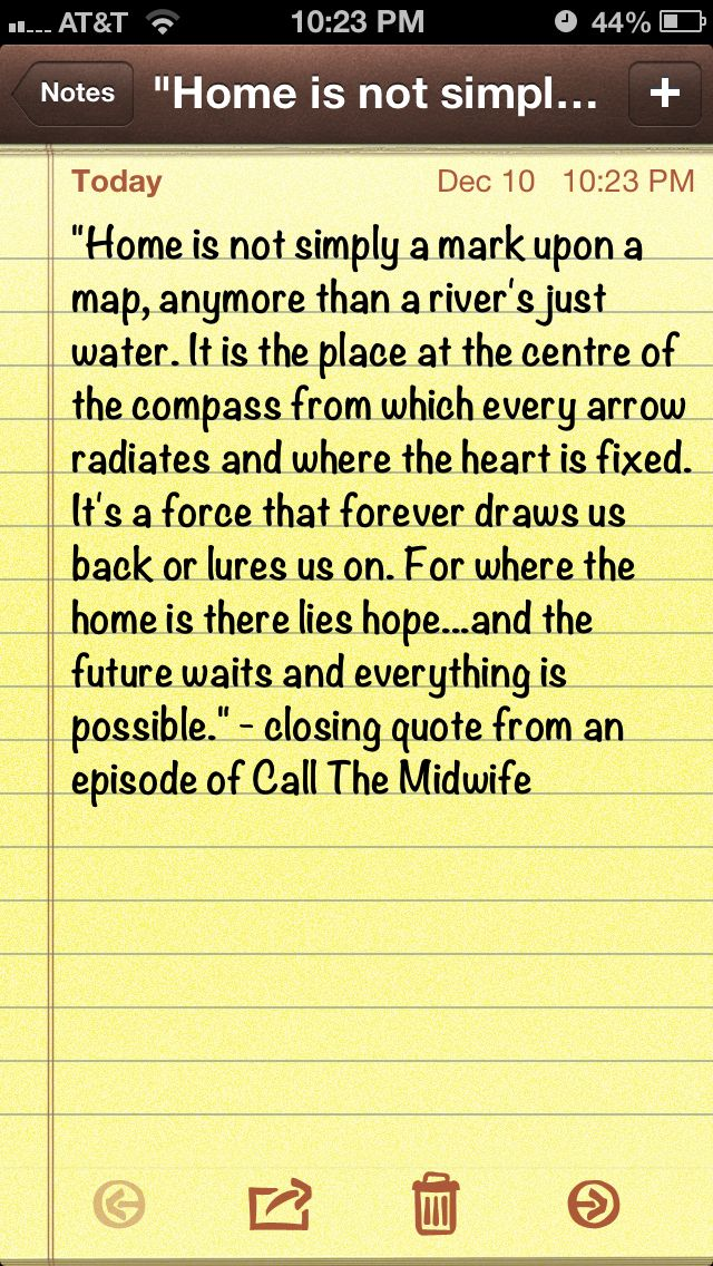 """Another awesome quote from """"Call the Midwife"""""""