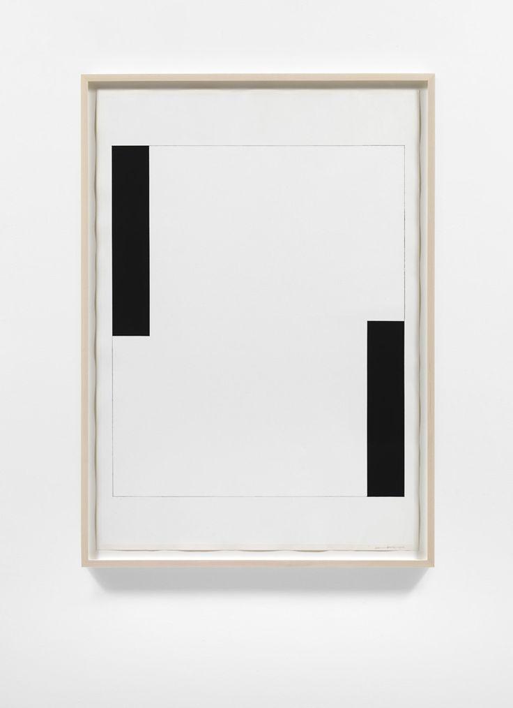 Carmen Herrera, Untitled, 2012, Acrylic and pencil on paper, 100 x 70 cm, Lisson Gallery   black white geometric minimalism art
