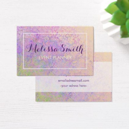 Colorfull Background Design Bussines Card - girly gift gifts ideas cyo diy special unique