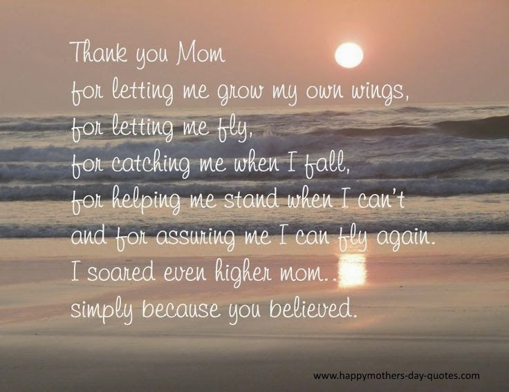 Thank You Mom Quotes From Daughter Quotes Mom Quotes Mom Quotes