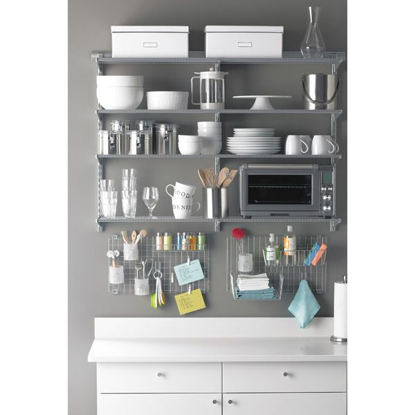 Wonderful The Container Store U003e Platinum Elfa Kitchen Shelving