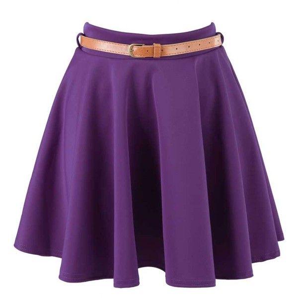 purple skater skirt my style pinterest