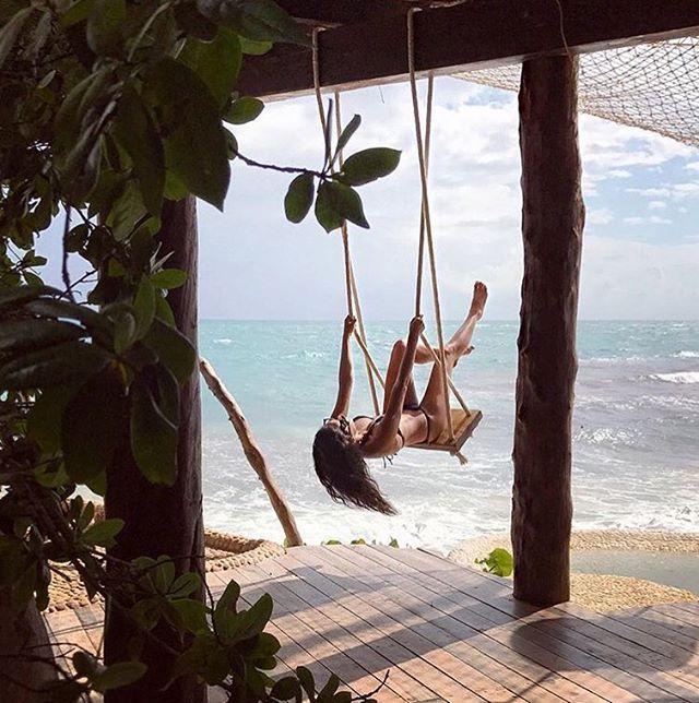 Getting into the swing of things #Hello #Friday #Swing #Azulik #Tulum #Weekend #ReconnectionSanctuary #Travel #Holiday #Pun #Vacation #Beautiful #AzulikHoneymoonVilla #fbf #Nature #RePost @shaym