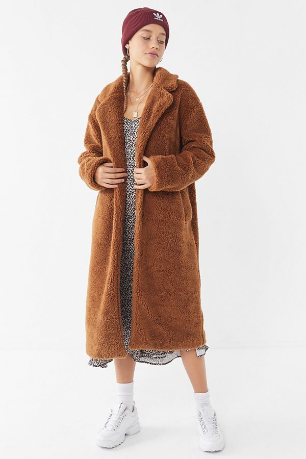 ddd224942 UO Teddy Duster Coat | CLOTHES | Coat, Teddy coat, Duster coat