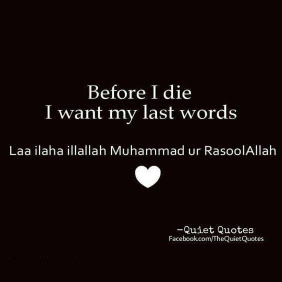 Ya Rab these are the last words I say on Earth!   #IslamicFaith #OneAllah #Muslims
