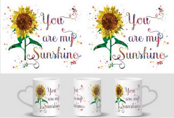 You Are My Sunshine mugs heat changing color heat reveal mugen magic tea coffee  ceramic mugen novelty