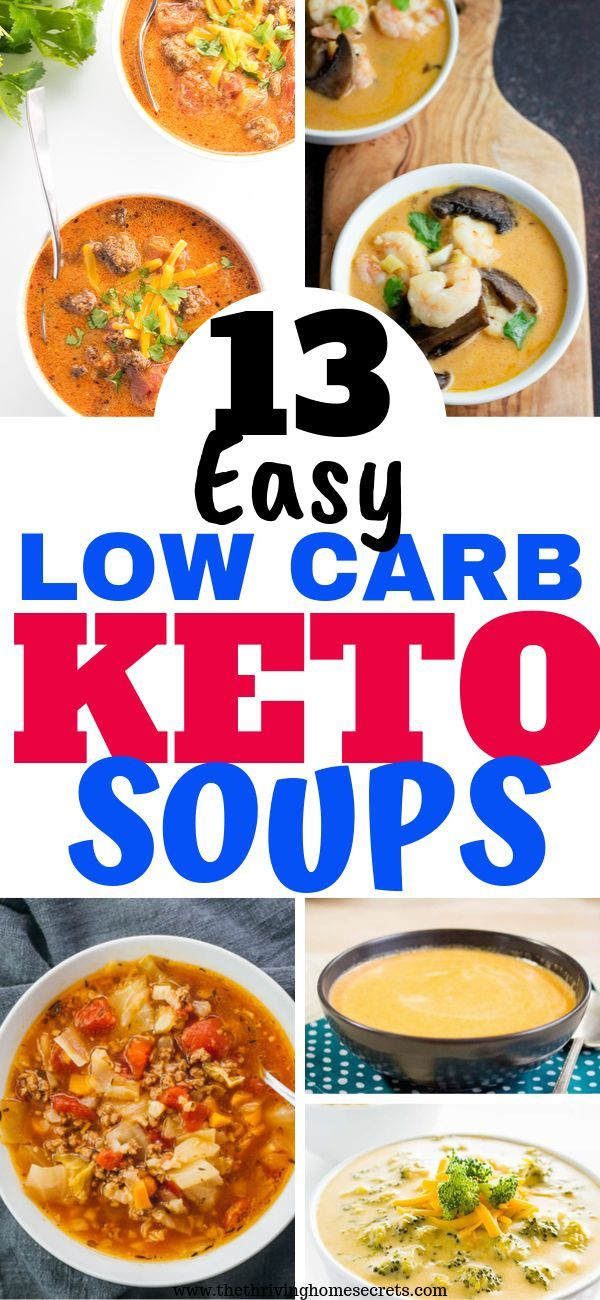 13 Delicious Low Carb Keto Soup Recipes That'll Keep Full For Long#lowcarbke…