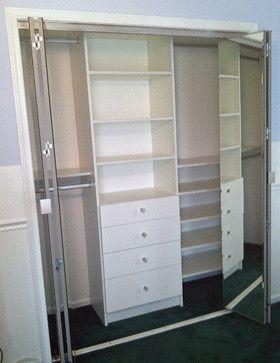 closet organization for small non-walkin closet.