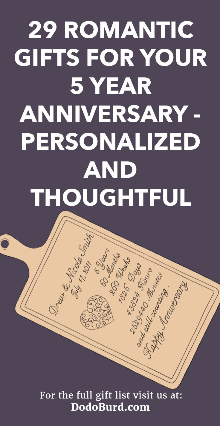 29 romantic gifts for your 5 year anniversary